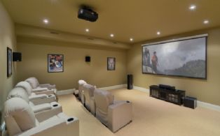 Home Theatre - Country homes for sale and luxury real estate including horse farms and property in the Caledon and King City areas near Toronto