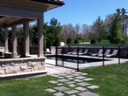 Portico/Pool - Country homes for sale and luxury real estate including horse farms and property in the Caledon and King City areas near Toronto