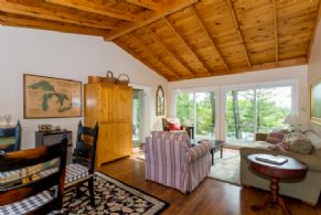 Guest Cottage Living/Dining - Country homes for sale and luxury real estate including horse farms and property in the Caledon and King City areas near Toronto