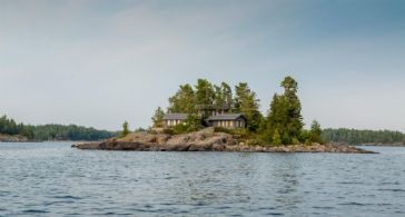 Round Island Viewed from Water - Country homes for sale and luxury real estate including horse farms and property in the Caledon and King City areas near Toronto