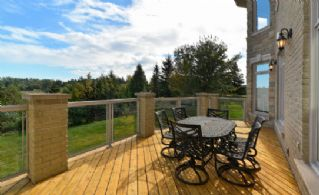 Deck off Kitchen - Country homes for sale and luxury real estate including horse farms and property in the Caledon and King City areas near Toronto