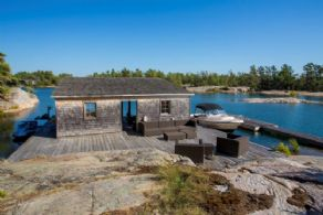 Boat House and Deck - Country homes for sale and luxury real estate including horse farms and property in the Caledon and King City areas near Toronto