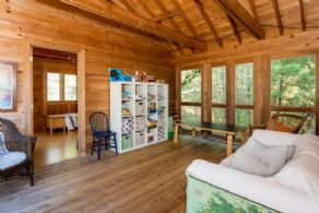 Screen Porch Playroom - Country homes for sale and luxury real estate including horse farms and property in the Caledon and King City areas near Toronto