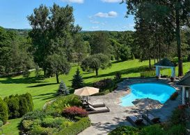 Pool and Grounds - Country homes for sale and luxury real estate including horse farms and property in the Caledon and King City areas near Toronto