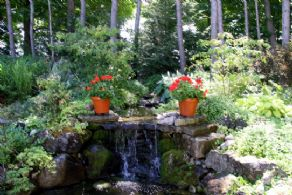 Garden Waterfall - Country homes for sale and luxury real estate including horse farms and property in the Caledon and King City areas near Toronto