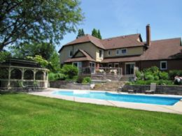 Pool Elevation - Country homes for sale and luxury real estate including horse farms and property in the Caledon and King City areas near Toronto