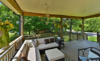 Covered Deck - Country homes for sale and luxury real estate including horse farms and property in the Caledon and King City areas near Toronto