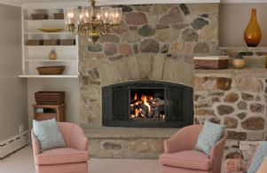 Stone Fireplace - Country homes for sale and luxury real estate including horse farms and property in the Caledon and King City areas near Toronto