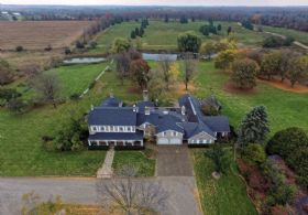 House Aerial - Country homes for sale and luxury real estate including horse farms and property in the Caledon and King City areas near Toronto