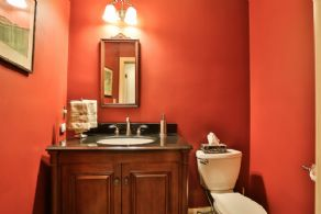Guest Powder Room - Country homes for sale and luxury real estate including horse farms and property in the Caledon and King City areas near Toronto