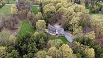 Aerial - Country homes for sale and luxury real estate including horse farms and property in the Caledon and King City areas near Toronto