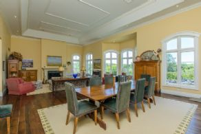 Great Room with Tray Ceiling, Fireplace & Walk-outs - Country homes for sale and luxury real estate including horse farms and property in the Caledon and King City areas near Toronto