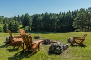 Hilltop Firepit - Country homes for sale and luxury real estate including horse farms and property in the Caledon and King City areas near Toronto