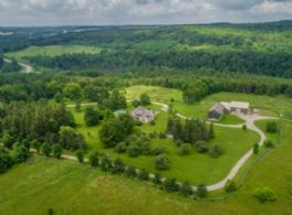Aerial with Mono Cliffs Park in Background - Country homes for sale and luxury real estate including horse farms and property in the Caledon and King City areas near Toronto
