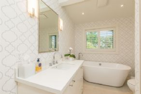 2nd Bathroom with Heated Floors - Country homes for sale and luxury real estate including horse farms and property in the Caledon and King City areas near Toronto