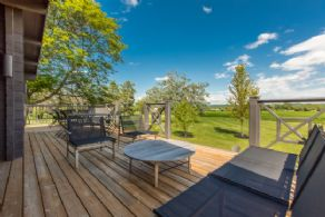 Deck with Glass Panels - Country homes for sale and luxury real estate including horse farms and property in the Caledon and King City areas near Toronto