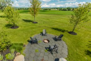 Firepit Overlooking Rolling Hills of King - Country homes for sale and luxury real estate including horse farms and property in the Caledon and King City areas near Toronto