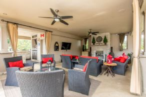 Cabana Seating Area - Country homes for sale and luxury real estate including horse farms and property in the Caledon and King City areas near Toronto