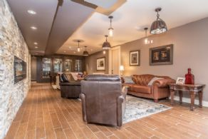 Lower Level Lounge - Country homes for sale and luxury real estate including horse farms and property in the Caledon and King City areas near Toronto