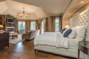 Master Bedroom with Walk-out to 2nd Floor Deck - Country homes for sale and luxury real estate including horse farms and property in the Caledon and King City areas near Toronto