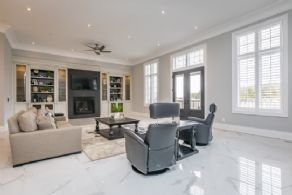 Living Room with Walk-out - Country homes for sale and luxury real estate including horse farms and property in the Caledon and King City areas near Toronto