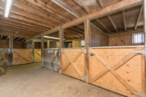 4-stall Barn Interior - Country homes for sale and luxury real estate including horse farms and property in the Caledon and King City areas near Toronto