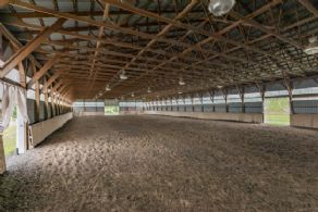 Indoor Arena with Irrigated Footing - Country homes for sale and luxury real estate including horse farms and property in the Caledon and King City areas near Toronto