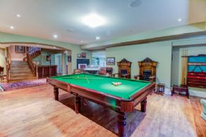 Billiards Room - Country homes for sale and luxury real estate including horse farms and property in the Caledon and King City areas near Toronto