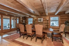 Large Dining Room with Walk-out to Covered Porch - Country homes for sale and luxury real estate including horse farms and property in the Caledon and King City areas near Toronto