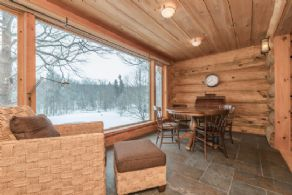 Den with Heated Floors Overlooks Pond - Country homes for sale and luxury real estate including horse farms and property in the Caledon and King City areas near Toronto