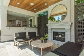 Pool Cabana Lounge with Fireplace - Country homes for sale and luxury real estate including horse farms and property in the Caledon and King City areas near Toronto