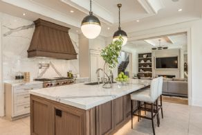 Kitchen opens in to Family Room - Country homes for sale and luxury real estate including horse farms and property in the Caledon and King City areas near Toronto