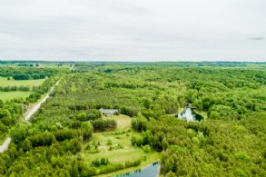 Aerial of Property - Country homes for sale and luxury real estate including horse farms and property in the Caledon and King City areas near Toronto