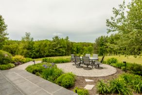 Front Patio - Country homes for sale and luxury real estate including horse farms and property in the Caledon and King City areas near Toronto