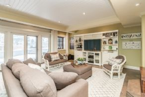 Family Room with Heated Floors - Country homes for sale and luxury real estate including horse farms and property in the Caledon and King City areas near Toronto