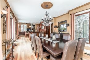 Dining Room open to Kitchen and Walk-out to Main Deck - Country homes for sale and luxury real estate including horse farms and property in the Caledon and King City areas near Toronto