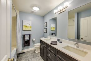 Newly Renovated Bathroom - Country homes for sale and luxury real estate including horse farms and property in the Caledon and King City areas near Toronto