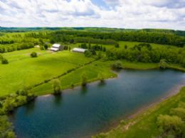 Crystal Clear Deep Swimming Pond - Country homes for sale and luxury real estate including horse farms and property in the Caledon and King City areas near Toronto