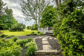 Garden Walkway - Country homes for sale and luxury real estate including horse farms and property in the Caledon and King City areas near Toronto