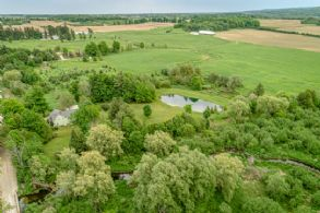 Aerial View - Country homes for sale and luxury real estate including horse farms and property in the Caledon and King City areas near Toronto