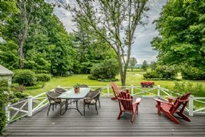 West Facing Deck - Country homes for sale and luxury real estate including horse farms and property in the Caledon and King City areas near Toronto