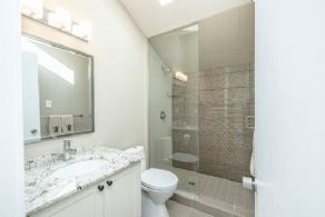 Renovated guest house bathroom - Country homes for sale and luxury real estate including horse farms and property in the Caledon and King City areas near Toronto