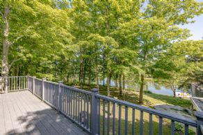 Guest house deck with pond views - Country homes for sale and luxury real estate including horse farms and property in the Caledon and King City areas near Toronto