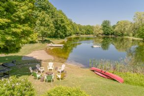 Swimming beach and fire pit - Country homes for sale and luxury real estate including horse farms and property in the Caledon and King City areas near Toronto