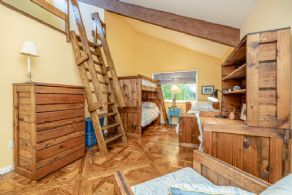Kids bunk bed room with loft - Country homes for sale and luxury real estate including horse farms and property in the Caledon and King City areas near Toronto