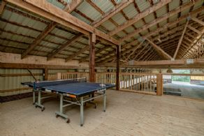 Games area in loft - Country homes for sale and luxury real estate including horse farms and property in the Caledon and King City areas near Toronto