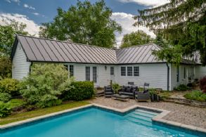 Pool patio - Country homes for sale and luxury real estate including horse farms and property in the Caledon and King City areas near Toronto
