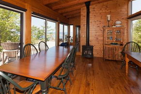 Dining Room with Propane Element - Country homes for sale and luxury real estate including horse farms and property in the Caledon and King City areas near Toronto